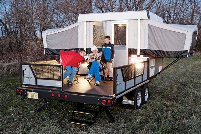 Check out the 2006 Fleetwood Scorpion S2: part camper, part cargo hauler! See this compact camper all of its amenities and storage.