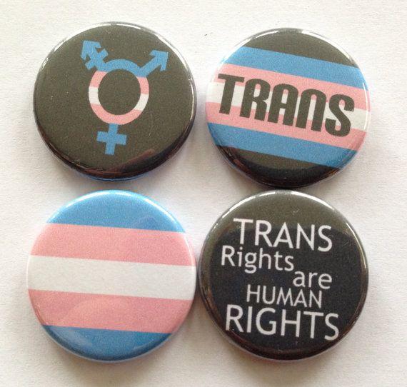 "Trans Pride 1.25"" back buttons. Set of 4 badges Transgender pride, trans pride flag, trans pride symbol, bathroom rights, Gift Set, trans*"