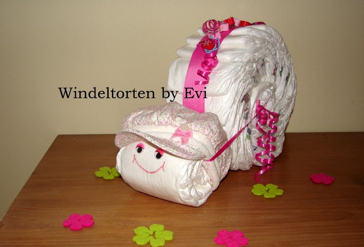 diaper snail - Windelschnecke 'Schneckchen', süsse Windeltorte von Windeltorten By Evi auf DaWanda.com