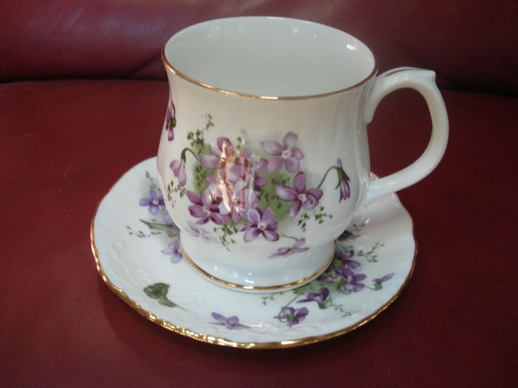 Hammersley Victorian Violets Teacup and Saucer from England's Countryside | eBay