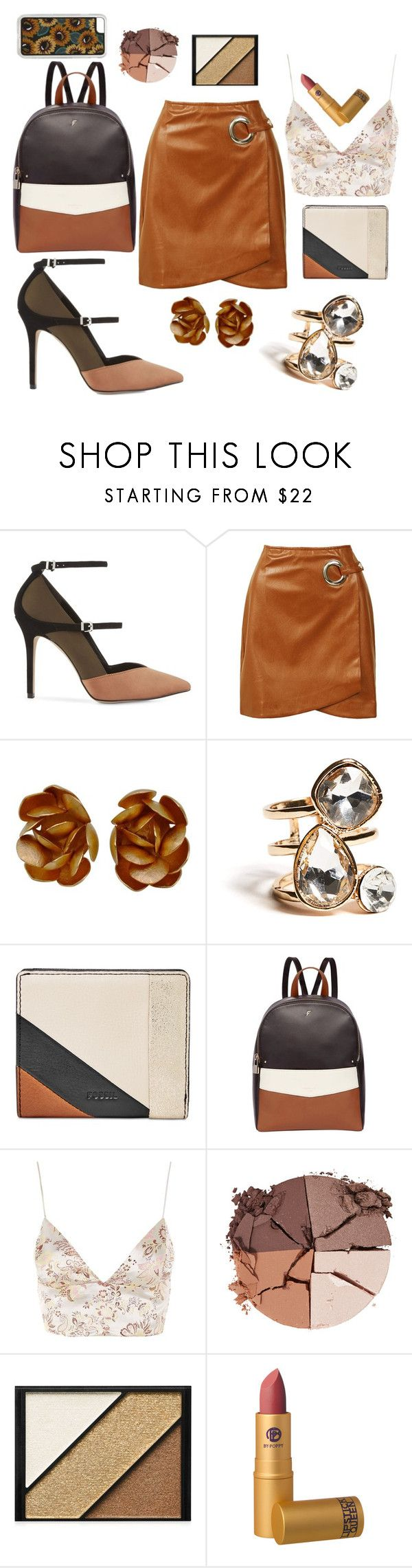 """Untitled #339"" by inesgenebra on Polyvore featuring beauty, Reiss, Sans Souci, GUESS, FOSSIL, Fiorelli, WYLDR, lilah b., Elizabeth Arden and Lipstick Queen"