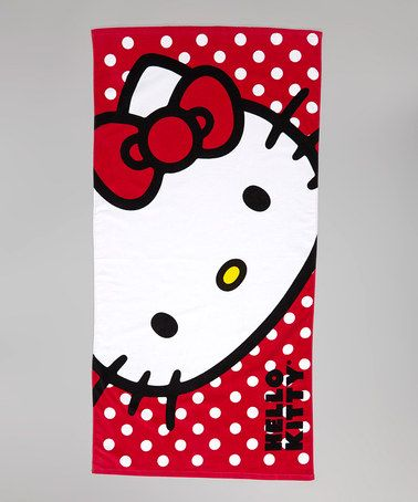 Take a look at this Red Happy Hello Kitty Beach Towel by Hello Kitty on #zulily today!