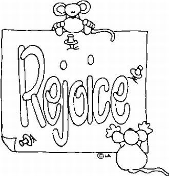 rejoice coloring pages - photo#20