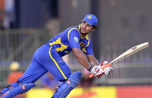 Sri Lankan Cricket Player Kumar Sangakkara Play One Day International Match on Ground Wallpaper