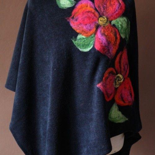 Poncho tunika i kwiat magicznego ogrodnika - Dla kobiet - Ubrania