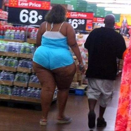 Good friends don't let friends… BUY THE WRONG SIZE:  Those shorts are 17 sizes too small.