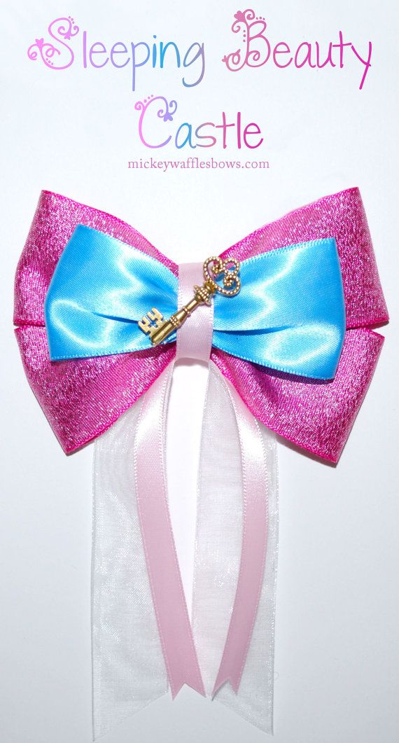 Sleeping Beauty Castle Hair Bow by MickeyWaffles on Etsy
