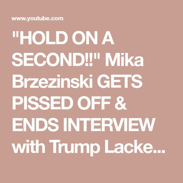 """""""HOLD ON A SECOND!!"""" Mika Brzezinski GETS PISSED OFF & ENDS INTERVIEW with Trump Lackey Bill Cassidy - YouTube"""