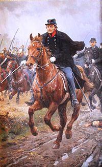 General Schleppegrell i slaget ved Isted, det sidste indhug - maleri af Otto Bache fra 1896. General Schleppegrell in the battle of Isted, where he was killed in action.