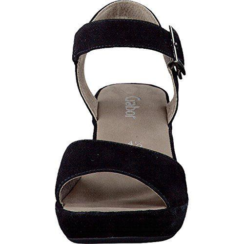 Gabor Fashion Damenschuhe 45.751.57 Damen Sandalette Sandale Leder (Wildleder) Schwarz (schw.(ohne Strass)), EU 40.5 - http://on-line-kaufen.de/gabor/7-uk-gabor-fashion-damenschuhe-45-751-damen