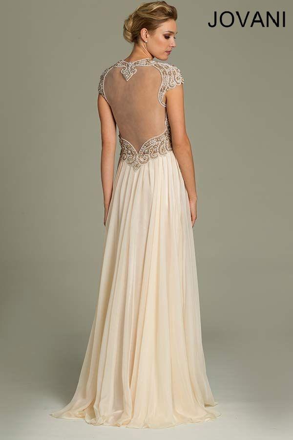 Jovani 78235 // art deco great gatsby wedding dress