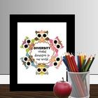 Owls: Owls Diversity Printable Poster - This printable classroom poster features adorable owls and a great diversity quote:  Diversity creates dime...