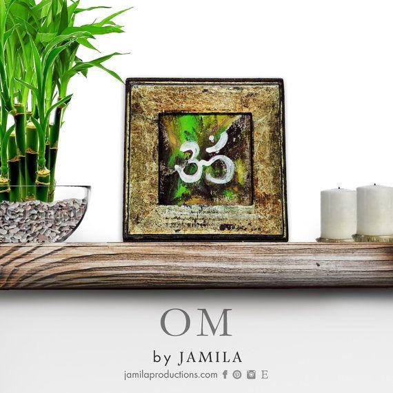 OM mantra symbol  original mixed media by jamilaproductions