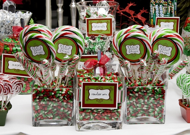 Christmas Candy Buffet created for my husband's company's Christmas party