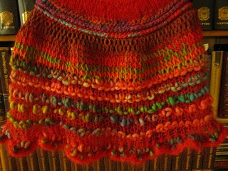 An old UFO finally finished!  Done in a combination of knitting and Tunisian crochet, with lots of different needle sizes.  It started out as a Tunisian scarf that SwedishIngrid made and gave me. A...