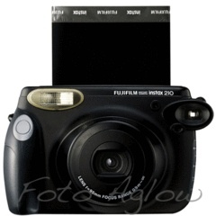 Fujifilm Instax 210 Instant Film Camera with 60 sheets of Instax Wide Film   Foto Aglow  i might get this !!