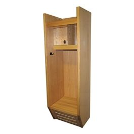 Recruiter Wood Sports Locker - Shown w/ optional finished end panels
