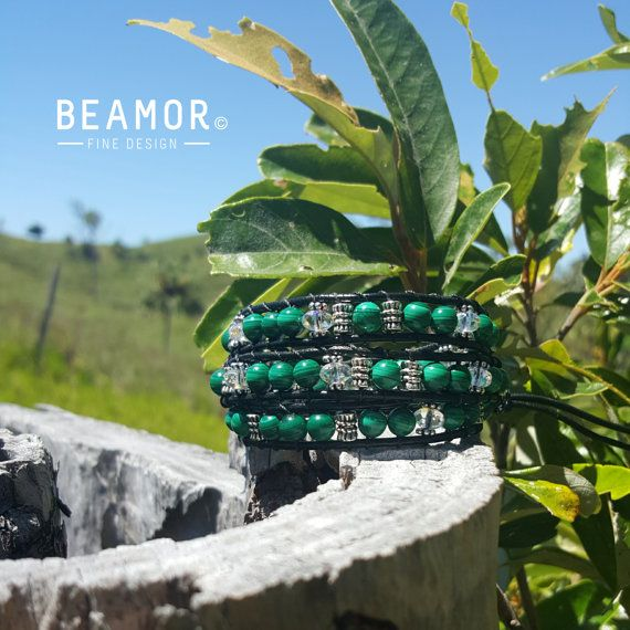 Check out this item in my Etsy shop https://www.etsy.com/au/listing/467801248/malachite-triple-leather-wrap