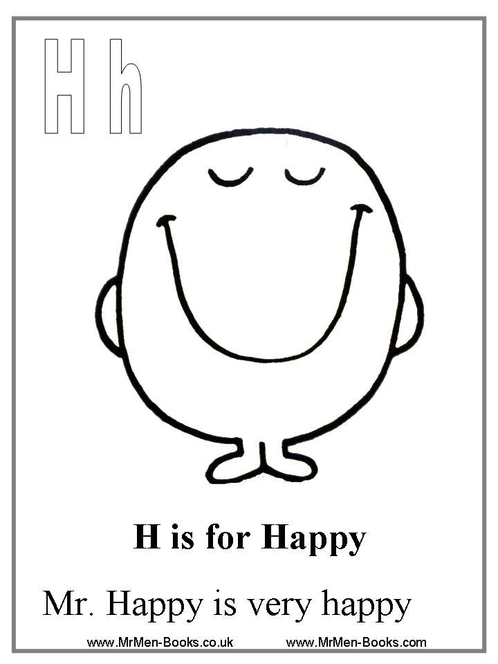 Mr Happy Coloring Page W S 1st Birthday Pinterest Happy Coloring Page