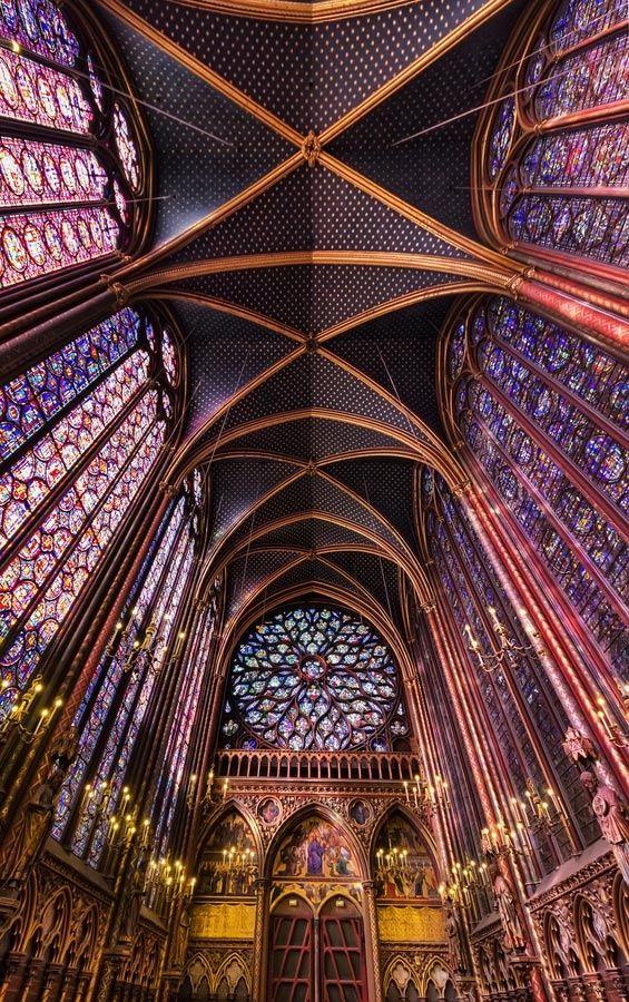 Sainte Chapelle (The Holy Chapel) is a 13th-century Gothic chapel on the Île de la Cité in the heart of Paris, France. It was built by Louis IX for use as his royal chapel.