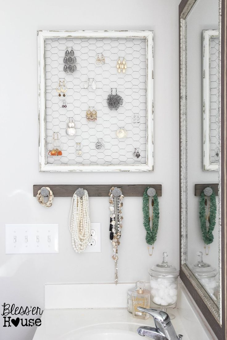 Bless'er House   DIY Rustic Industrial Jewelry Organizer - Cheap, easy, functional, and pretty!