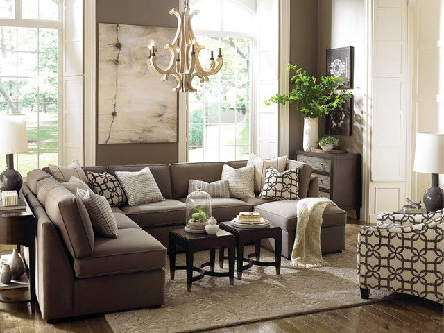 New Orleans Compater Large Sectional Sofa In Small Living Room