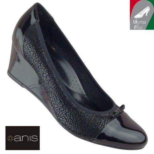 Anis női bőr cipő 3536 fekete