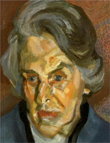 Lucian Freud, Aline, 2000, oil on canvas.