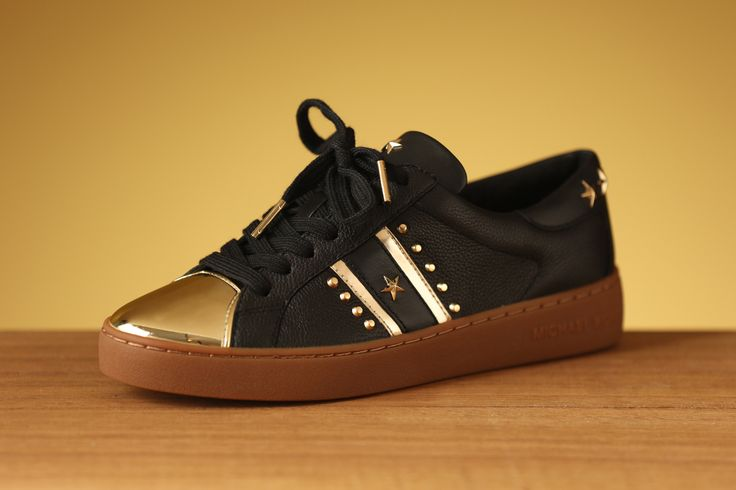 Only gold can shine as brightly as you in your Michael Kors sneakers