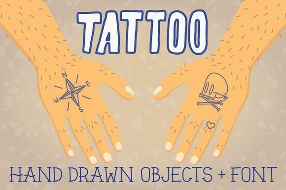 20 Great Tattoo Fonts For Your Next Vintage Design ~ Creative Market Blog