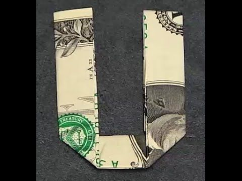 Fold Origami Dollar Bill Alphabet Letter G – YouTu…