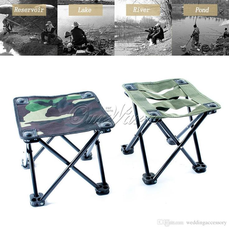 Oxford Cloth Outdoor Folding Fishing Stool Chair Portable Bench Tackle with Carrying Bag