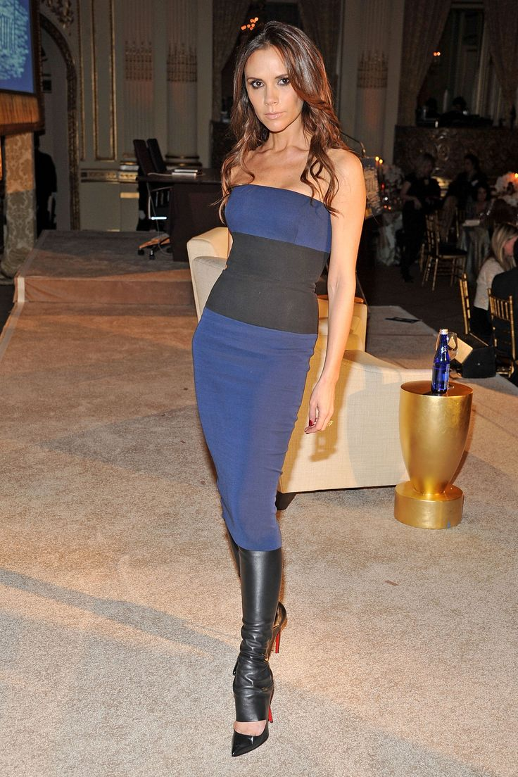 Fashion look from january 2016 featuring pink opaque tights round - Victoria Beckham S Best Looks