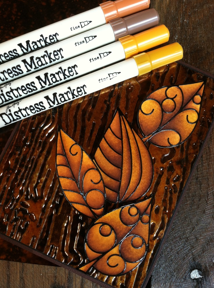 Distress Markers & embossing