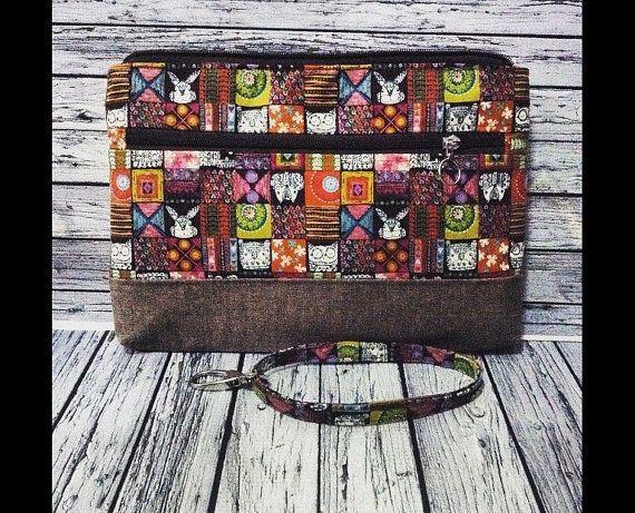 multipurpose pouch 30w x20h x 3cm by KatunKatunBags on Etsy