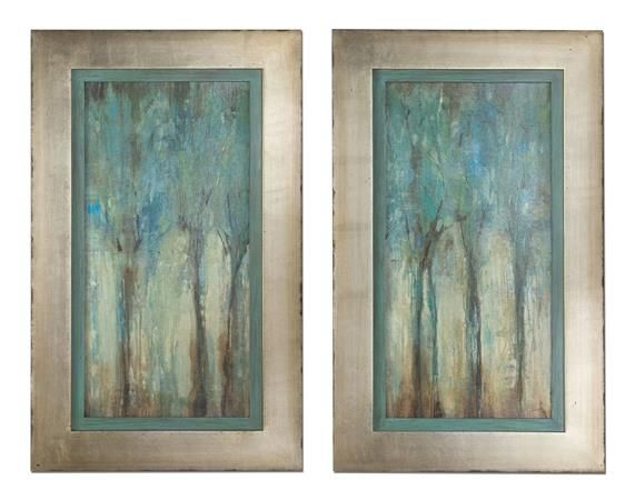 Uttermost 41410 whispering wind framed art set of 2 artwork reproduction home decor wall decor paintings