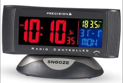Precision #radio controlled #multicoloured lcd #alarm clock,  View more on the LINK: http://www.zeppy.io/product/gb/2/201619740523/