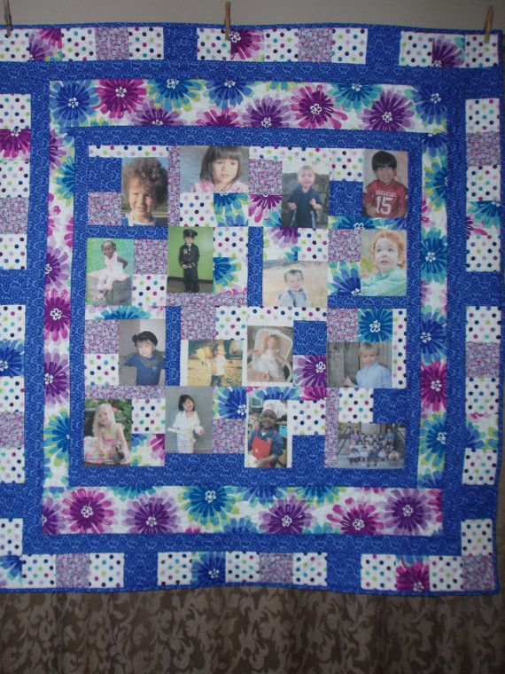 CUSTOM ORDERS for Photo Quilts by BarbMalmTshirtQuilts on Etsy