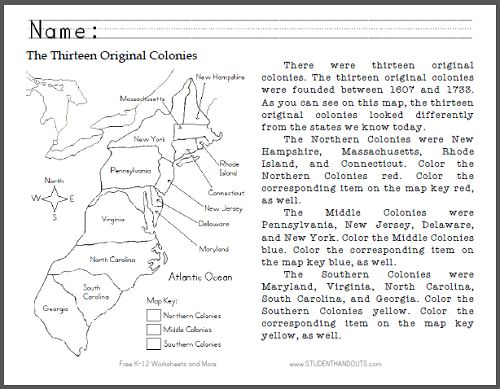 Printables 13 Colonies Worksheet 1000 images about the 13 colonies lessons on pinterest american thirteen original map primary worksheet free to print pdf file