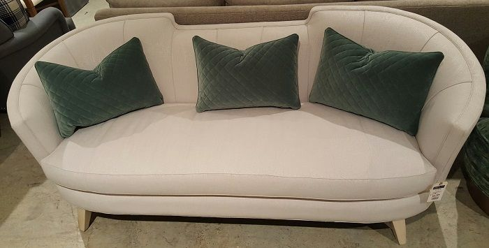 LL900 Gia Sofa By Burton James  Mercy Vapor Fabric @ Heritage Furniture  Outlet