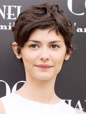 Audrey Tautou - pixie hair cut