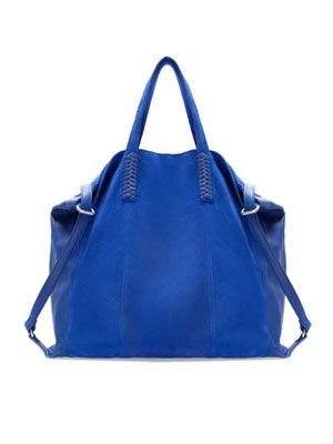 10 cool bags to carry for spring: Cobalt Zara Leather Shopper, $99