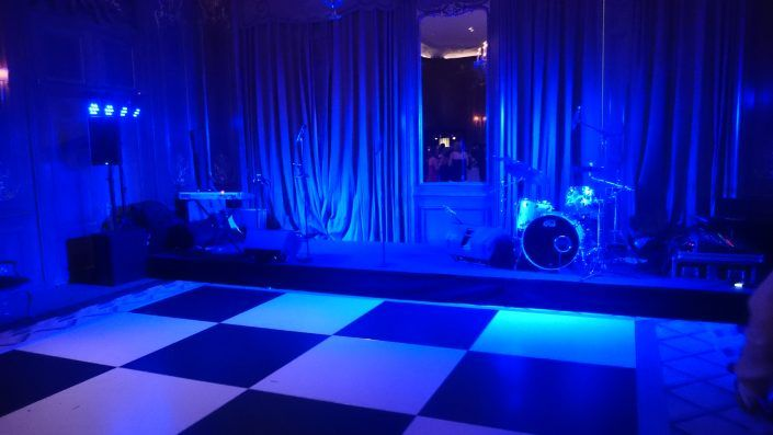 Claridges – Simple Band Setup and Stage Wash Lighting Hire