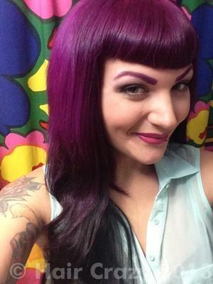 Haare farben violett