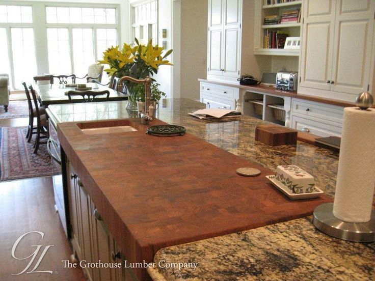 Teak Butcher Block Countertop In Savannah, Georgia   Traditional   Kitchen  Countertops   New York   The Grothouse Lumber Company