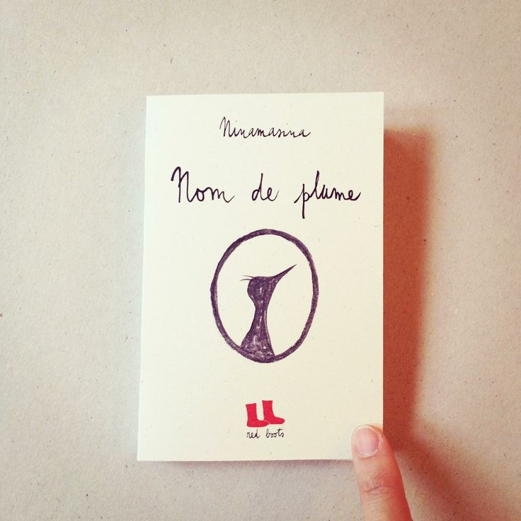 Nom de plume via red boots | books adn zines. Click on the image to see more!