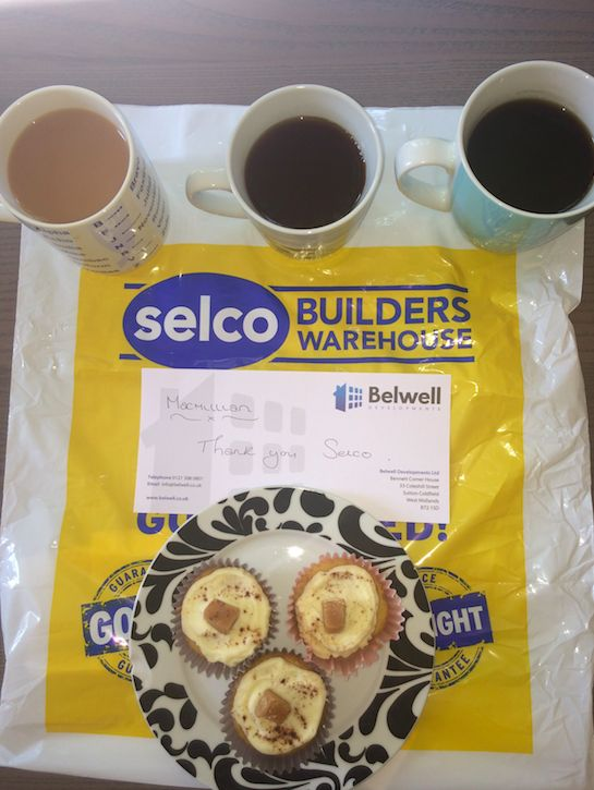 Thank you to Selco Builders Warehouse Perry Barr for the cakes we bought at your Macmillan Cancer Support coffee morning! They were delicious! #macmillan #coffeemorning #charity #bake #cake