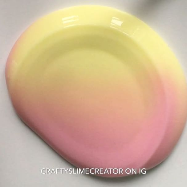 Cool pastel pink and yellow fade slime!