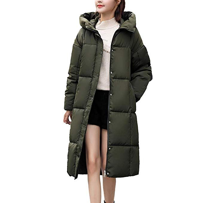 newest 7c309 28093 FRAUIT Damen Warme Dicke Kapuzenmantel Damen Winterjacke ...