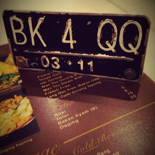 Table number and the menu - QQ Kopitiam - Plaza Indonesia The Extension